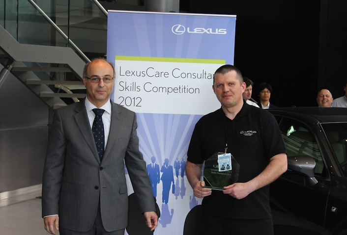 Martin Jackson, winner of the LexusCare Consultant Skills Competition 2012