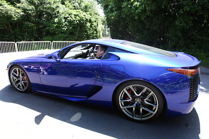 Lexus LFA with competition winner at Goodwood Festival of Speed 2012