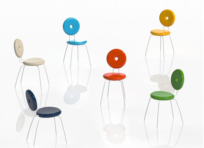 Ping Pong Pang chairs by Paolo Rizzatto for Serralunga