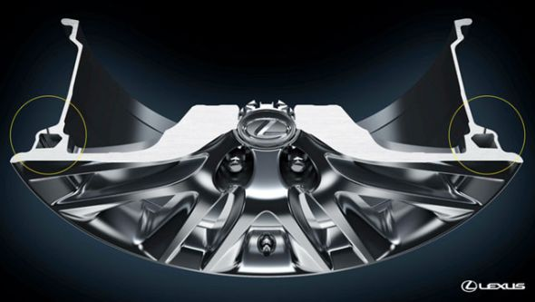 Lexus hollow wheel cross-section