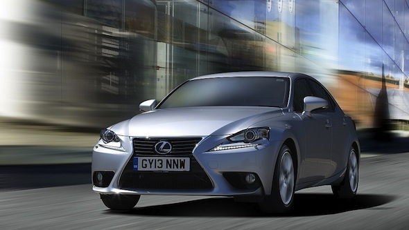 Silver Lexus IS moving