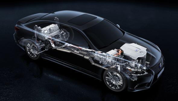 Lexus LS 600H technical
