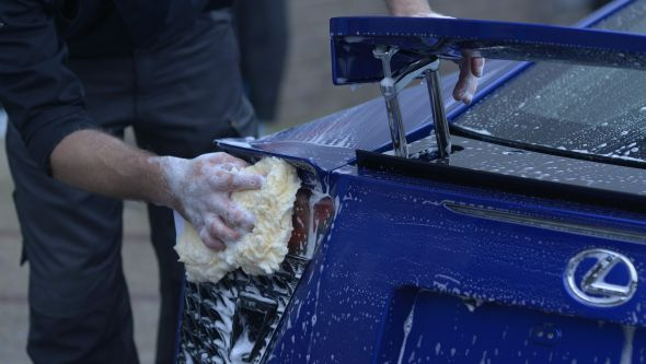 Lexus LFA ultimate car cleaning guide wing