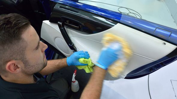 Lexus LFA ultimate car cleaning guide interior