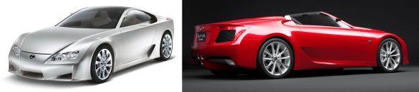 Lexus LF-A and LF-AR