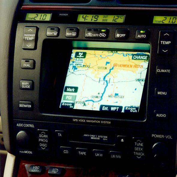 LS 400 sat nav History of Lexus navigation systems