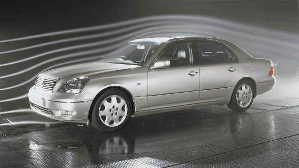 LS 430 wind tunnel switchable air suspension system
