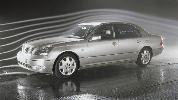 third-generation Lexus LS 430 wind tunnel