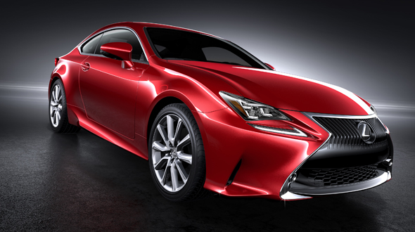 Lexus RC Coupe red
