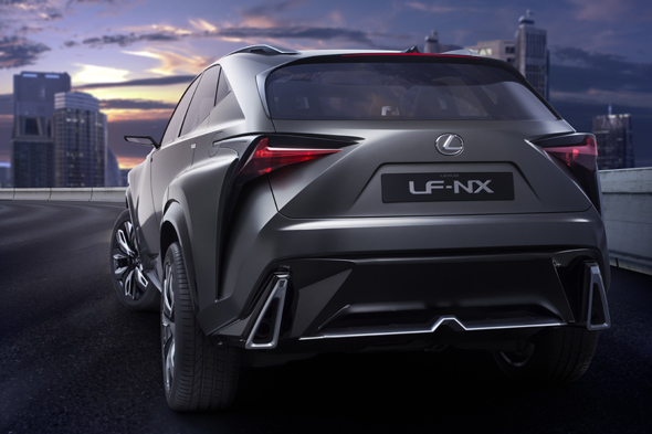 Lexus LF-NX turbo rear