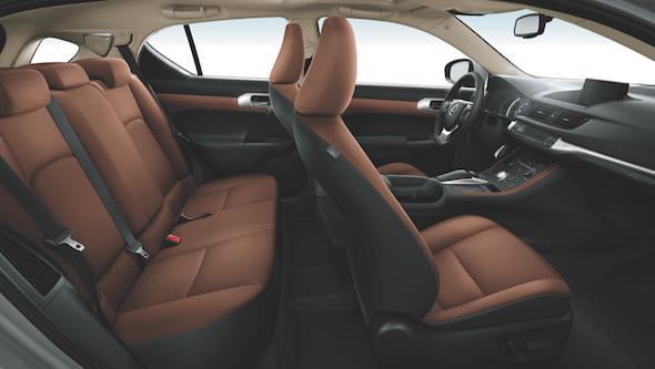 Lexus CT 200h 2014 brown interior