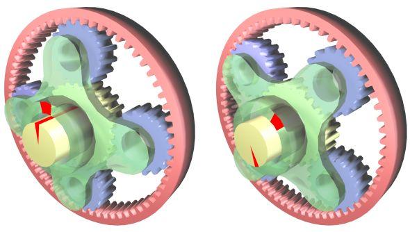 Epicyclic gear ratios Lexus E-CVT and hybrid