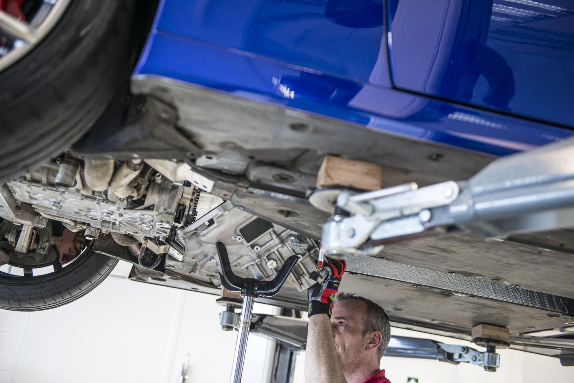 How to service a Lexus LFA underbody