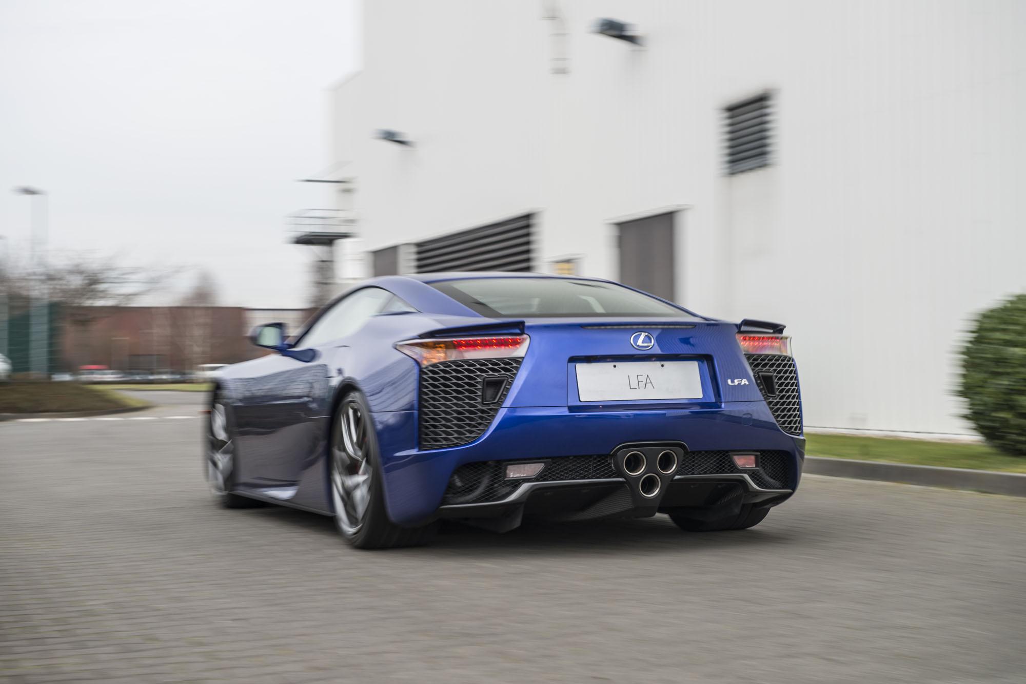Blue Lexus LFA rear