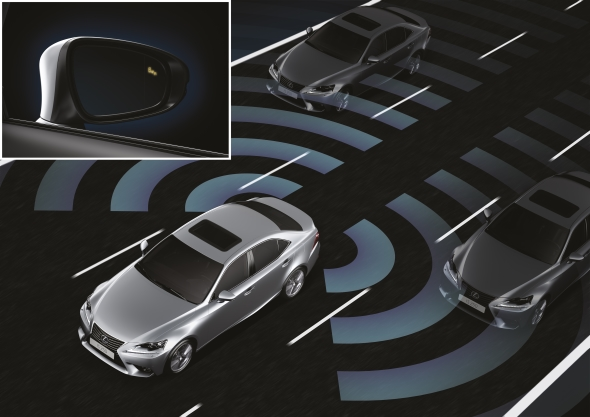 Lexus car safety monitoring systems Blind Spot Monitor