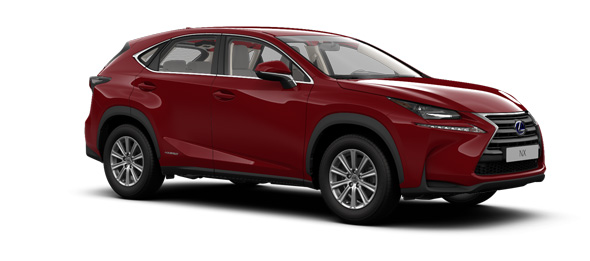 Lexus NX colours Mesa Red