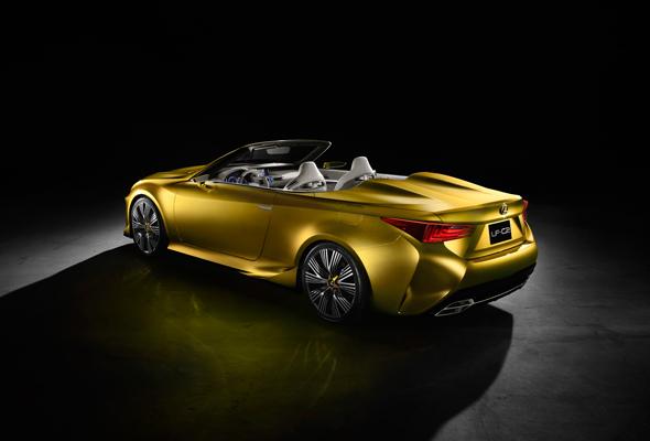 Lexus LF-C2 luxury roadster concept rear