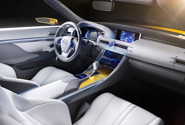 Lexus LF-C2 luxury roadster concept interior