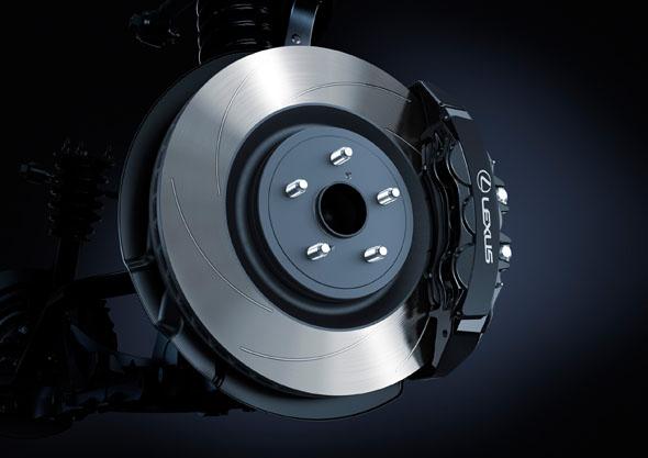 RC F Brembo brake