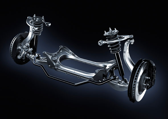 RC F Double wishbone front suspension