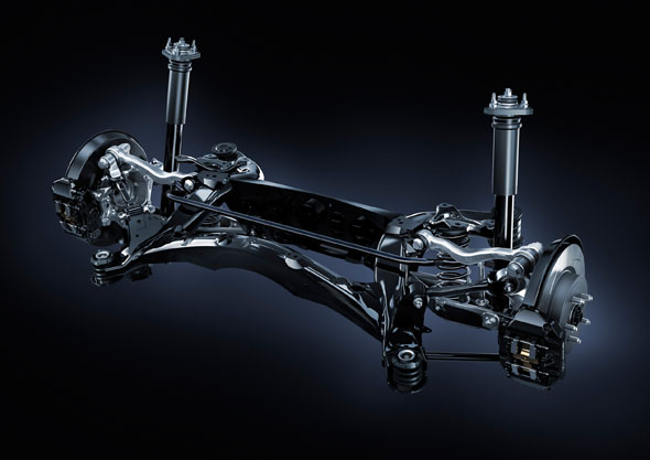 RC F Multi-link rear suspension