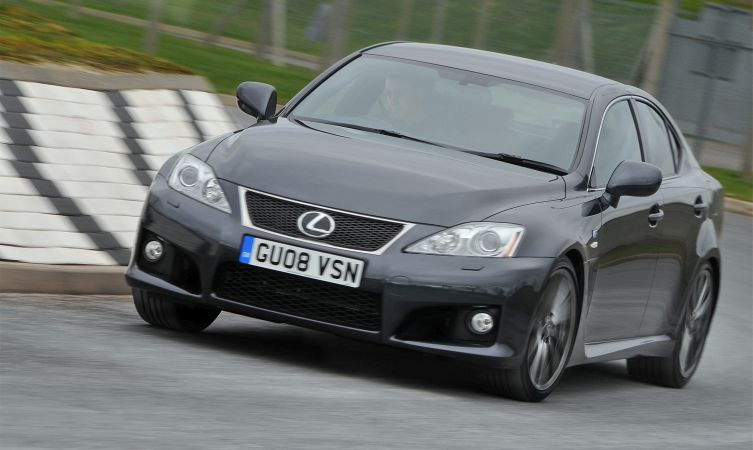 Lexus IS F cornering