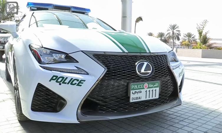 Lexus RC F Dubai police car