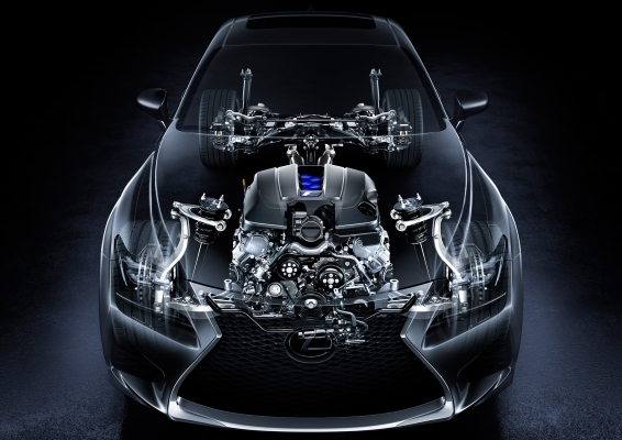 Lexus RC F cutaway