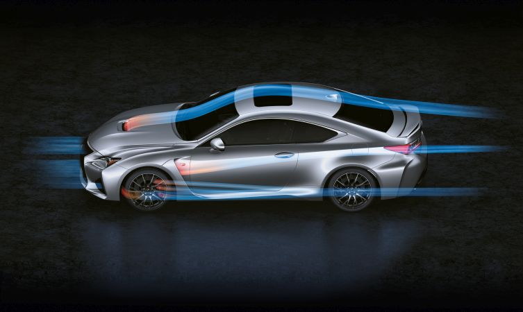 RC F aerodynamics