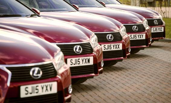 Little's Chauffeur Lexus Fleet Handover - Glasgow