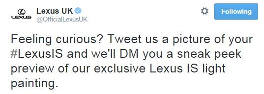 Twitter Lexus IS