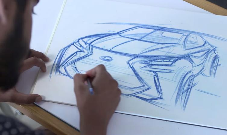 Lexus LF-SA design drawing
