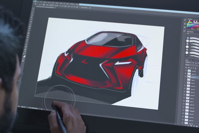Lexus LF-SA Concept digital render