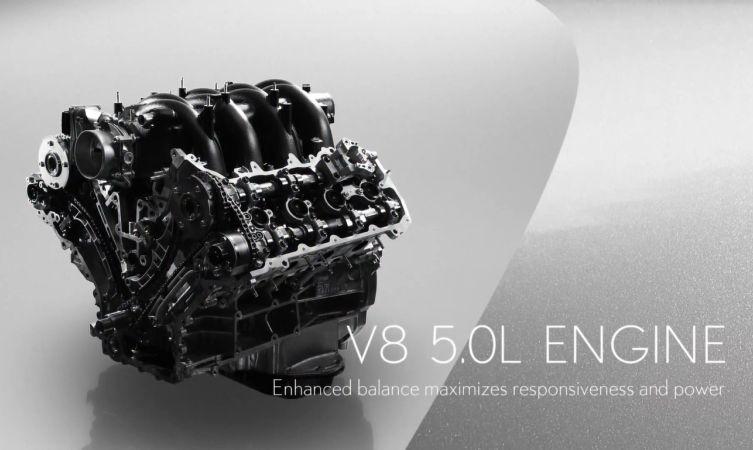 GS F engine