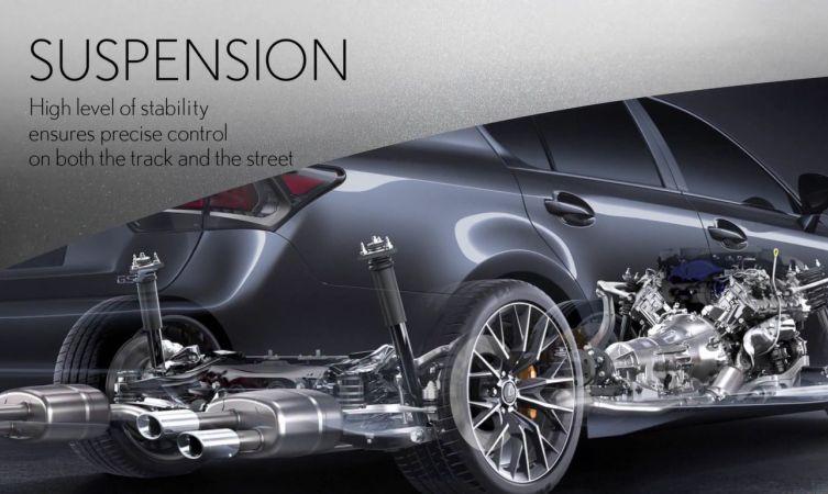 GS F suspension