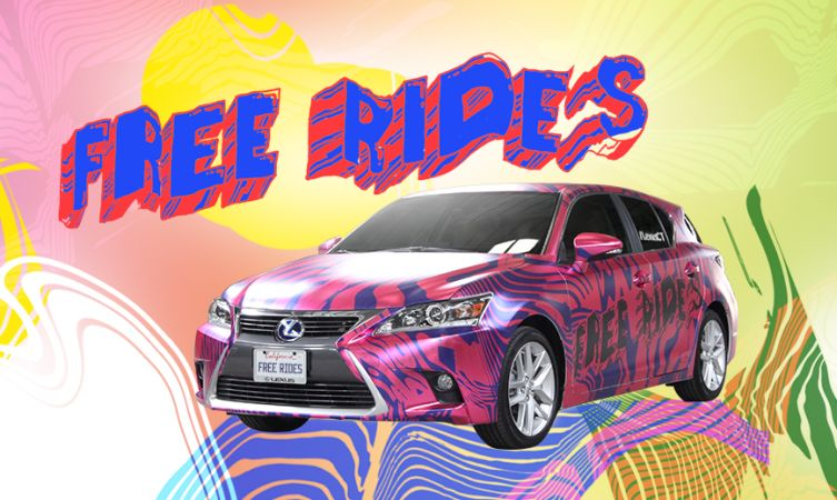 Lexus CT free rides