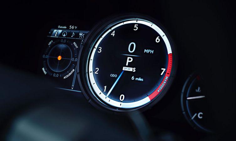 Lexus RX F Sport gauges