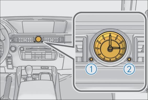 Lexus GS Clock
