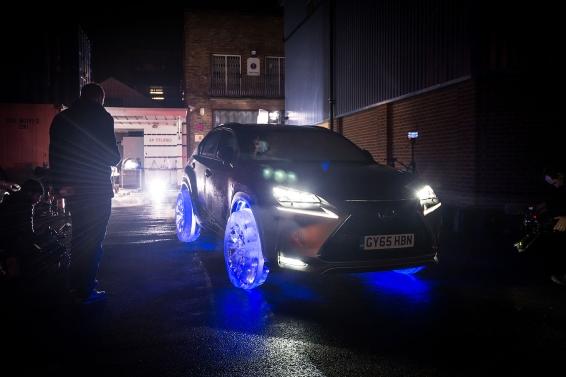 Filming the Ice-Tyre Lexus NX