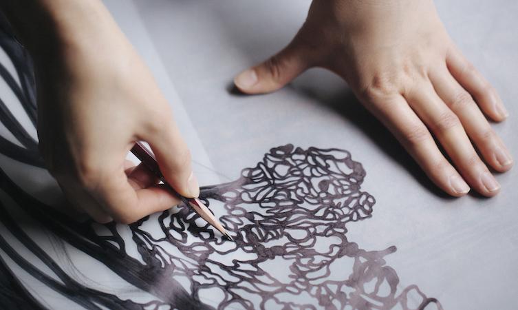 Paper cutting artist