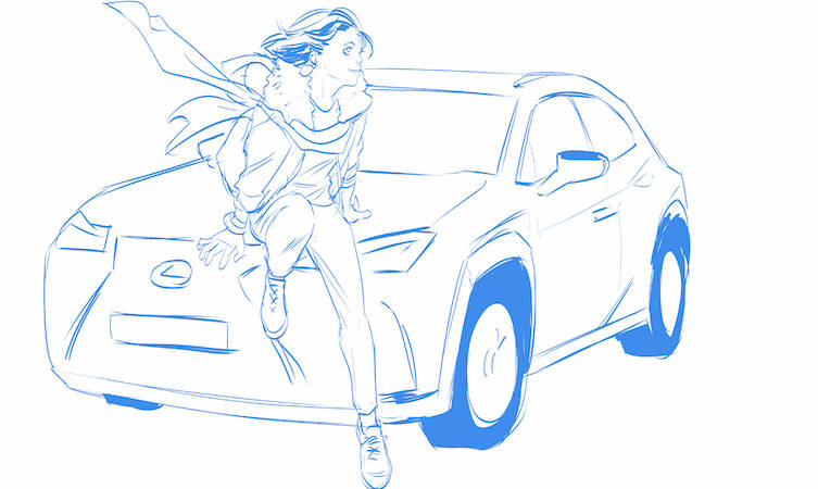 Lexus UX manga