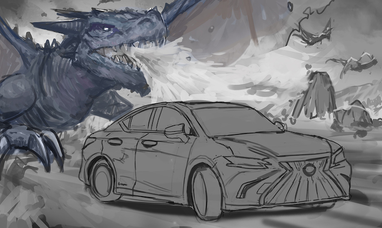 Lexus ES manga