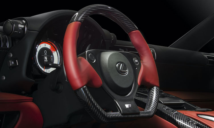 LFA steering wheel design
