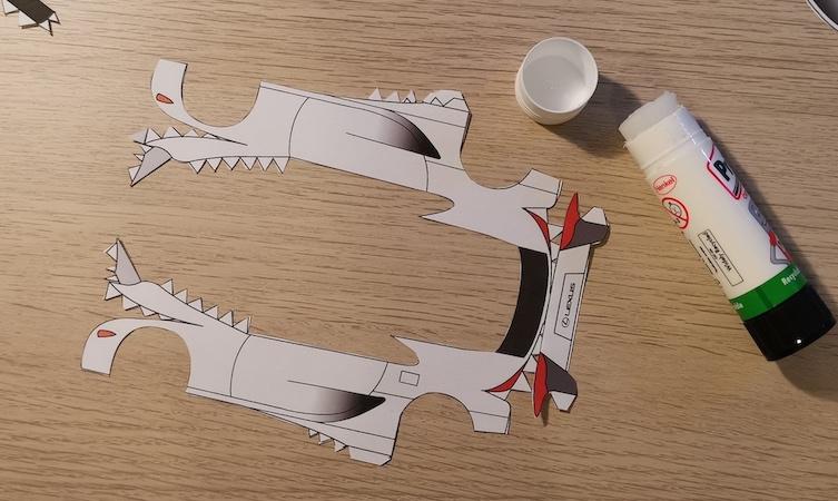 LFA paper model step five