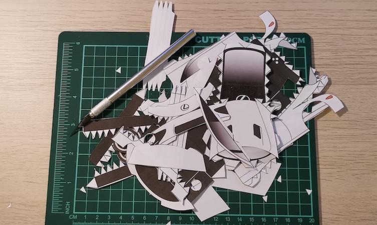 LFA paper model step one