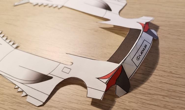 LFA paper model step six