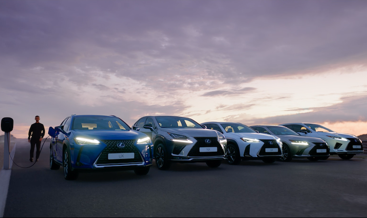 New Lexus UX advert – electrified range