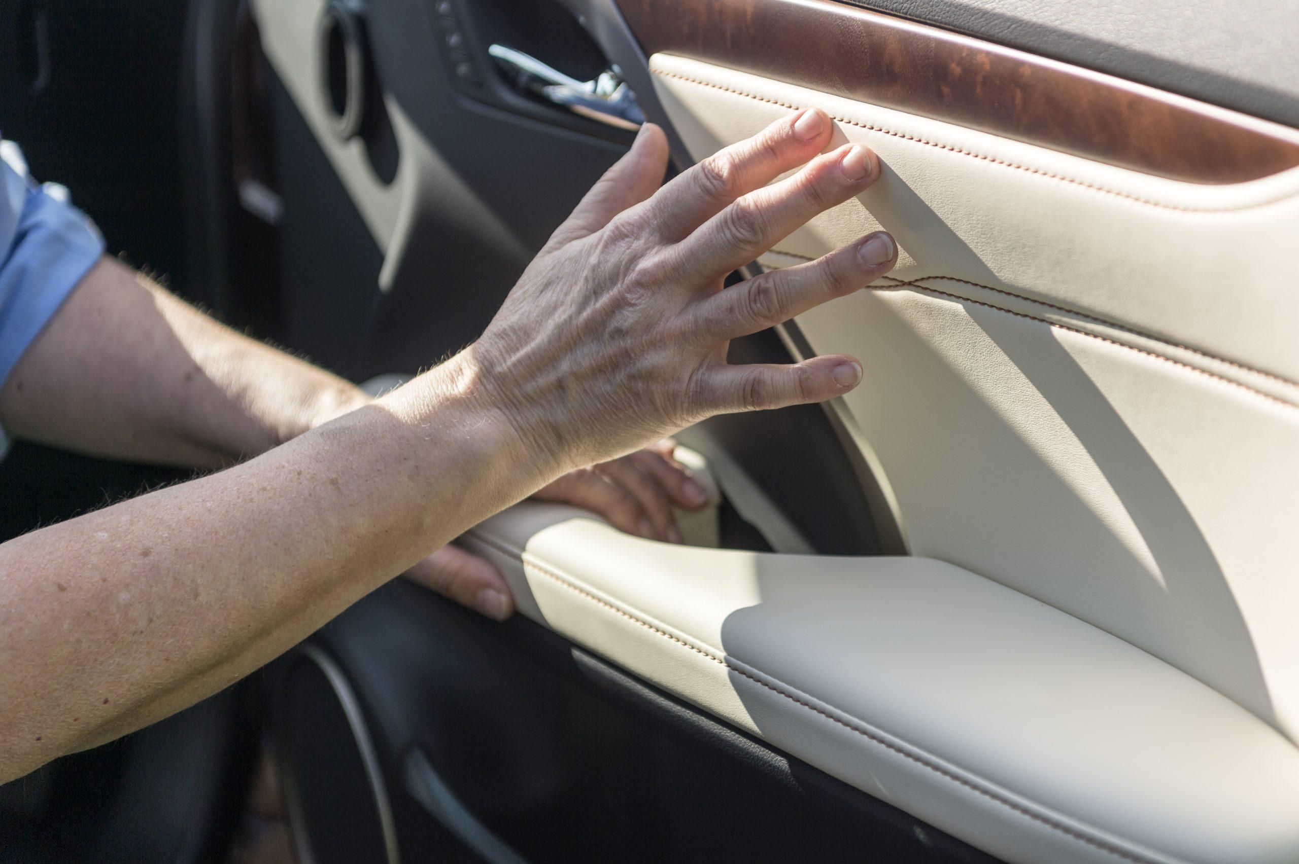 Lexus RX L: stitching and wood trim