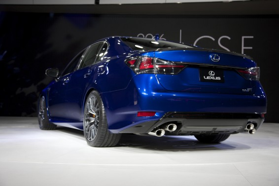 GS F rear 3q