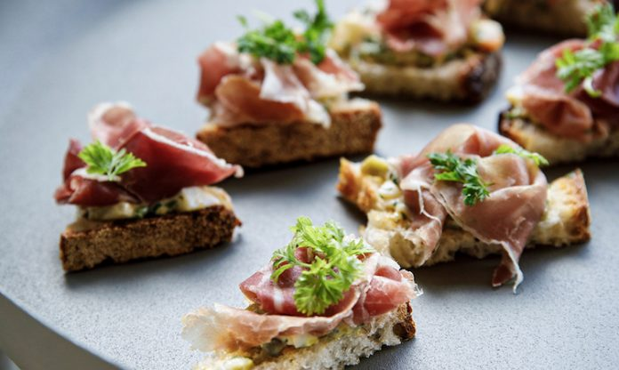 Prosciutto and Gribiche on Toast